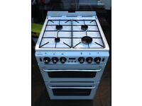 New world gas cooker double oven electric grill 55 cm width