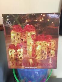 Brand new sealed light up Christmas parcels