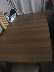 Oak Veneer dining table and chairs