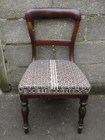 Antique mahogany hall chair