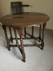 Oval Table with Barley Twist Legs