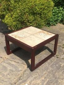 G PLAN style coffee table ROSEWOOD with tiled top VINTAGE retro SUNELM