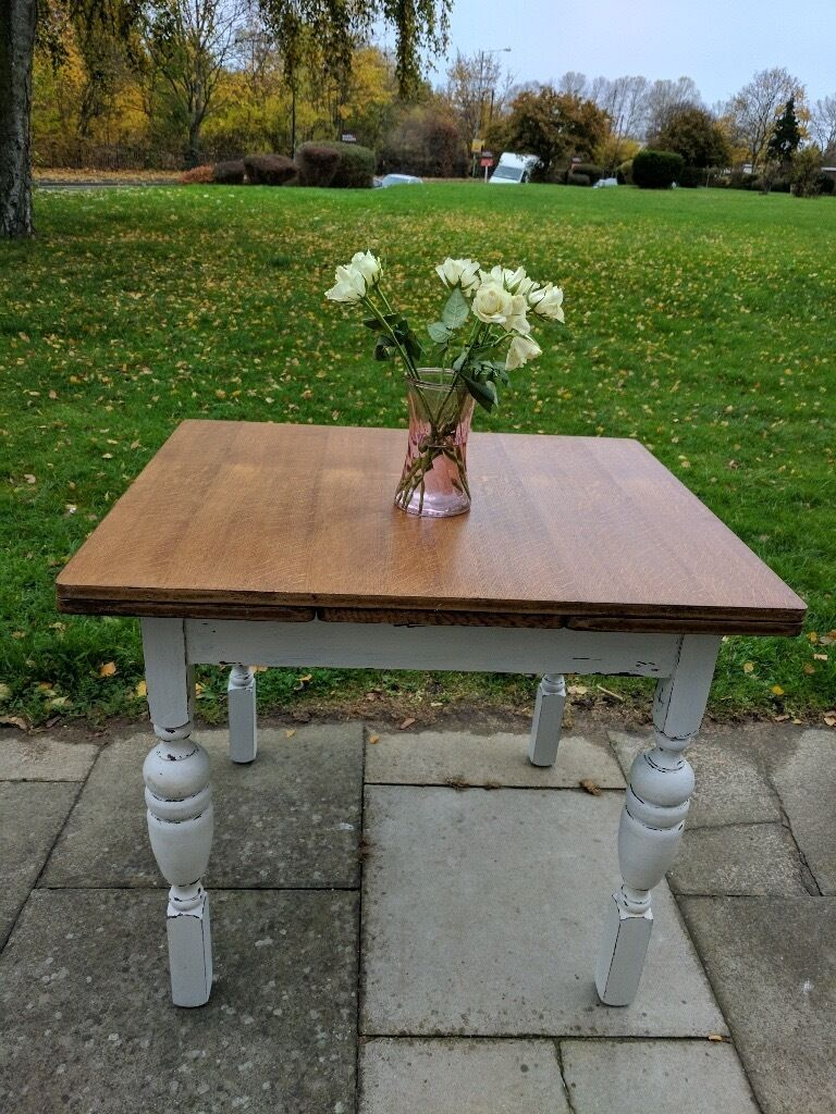 Vintage Extendable Dining Table Vintage Extendable Dining Table Rustic Farmhouse Shabby Chic