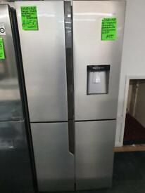 Ex display hisense fridge freezer four door American style & dispenser