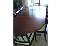 Dining Table chairs and sideboard