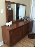 Dresser with Mirror and Chest