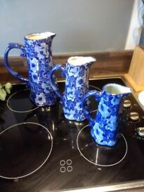 Mason stoneware jugs X 3