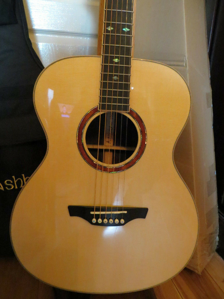 Ashbury AG-160 Guitar - New in Box with Padded Gig Bag - Solid Spruce Top, Rosewood Back/Sides