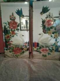 Old hand painted mirrors