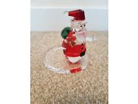 Partylite sparkle lite crystal santa. Ex display item with box.