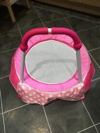 Chad Valley baby girl indoor pink trampoline