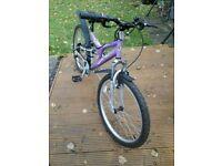 Nearly New Girls Bike Age 9-12yrs (Purple)