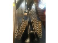 Mixture of mens golf clubs. Drivers, full irons sets, putters. All listed and can be viewed.