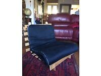 black futon chair/sofa bed 2 x single and 1 x double
