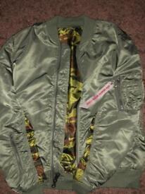 Alpha Industries Reversible Camouflage Jacket.