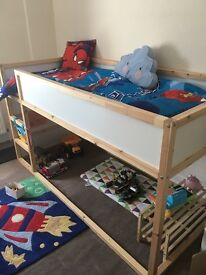 Ikea Kura midsleeper bed with mattress