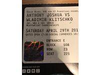 Anthony Joshua Tickets!