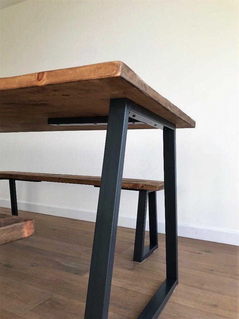 Industrial Reclaimed Rustic Wood Steel Oak Pine Metal
