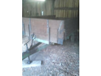 VINTAGE 4 TON AGRICULTURAL TIPPING TRAILER, SUITABLE EQUESTRIAN OR SMALLHOLDING