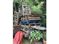 Wood pallets (approximately 15)