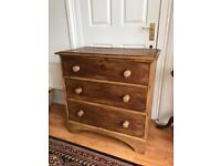 Victorian chest of drawers solid pine