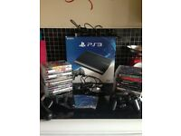 PS3 500gb boxed plus 21 games