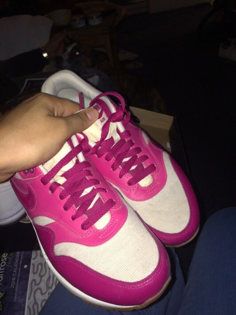 Pink and White Air Max