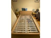 IKEA Double Wooden Bed Frame + Slats