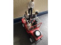 One direction collectable dolls and jeep