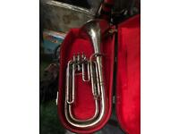 Baritone horn made in Belgium, plays very well