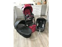 OYSTER Babystyle Pushchair, Carry Cot & Britax Car Seat