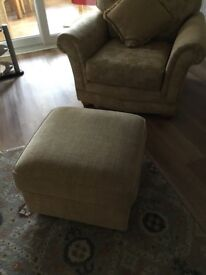 M &S gold pouffe condition as new