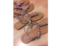 Brand New Never Worn Decorative Sandals - Size 7 UK