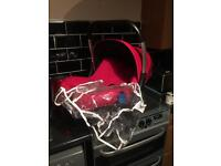 Silvercross carseat and raincover