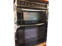 BELLING ELECTRIC COOKER CERAMIC TOP 60cm WIDE DOUBLE OVEN WITH GRILL FREE DELIVERY AND WARRANTY