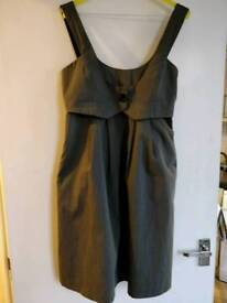 CUE women's grey pinafore dress perfect for work