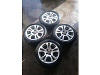 "Renault Clio 4 Stud 15"" Wolfrace Alloy Wheels 195/50/15"