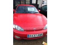 Hyundai Coupe, 1998, 1.6cc, low mileage, long mot.