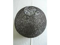 "*Beautiful* chocolate brown rattan ""ball"" ceiling lampshade"