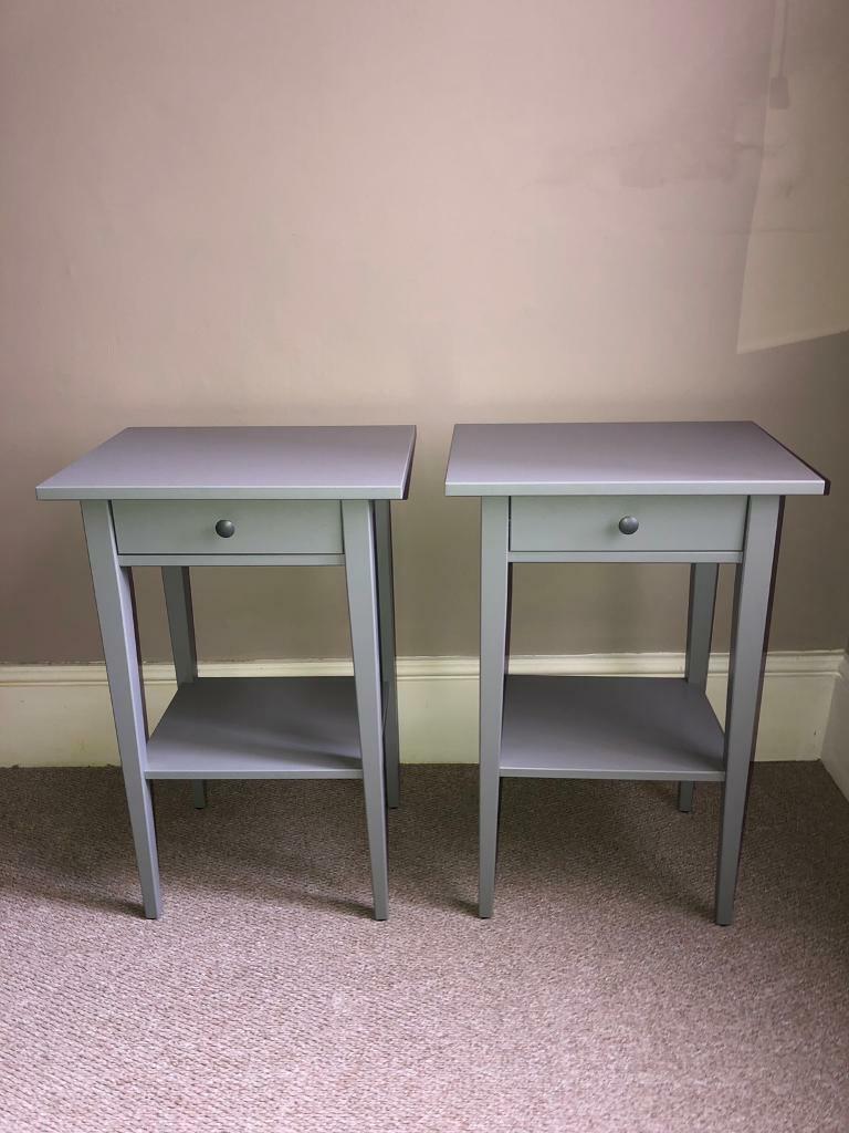 Grey Bedside Tables: X2 Grey Bedside Tables