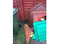 Little tykes playhouse and garage
