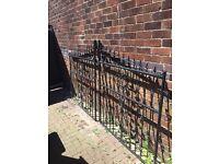 Heavy duty wrought iron gates