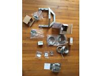 TV Aerial fixing brackets and wire rope assembly