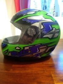 Green HJC helmet
