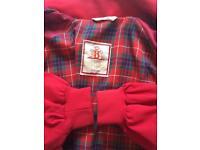 "Baracuta G9 Harrington Four Climes Red Jacket size 44"""