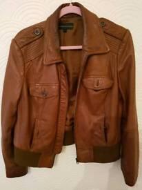 Brown ladies bomber jacket