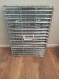 Metal foldable dog crate - small