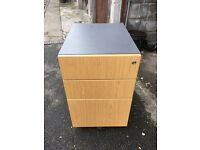 3 draw office filing cabinet on rollers