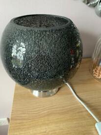 Dark grey mosaic lamp