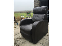 Brown high back recliner chair DELIVERY AVAILABLE